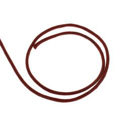 5m ou 10m Fil en Nylon Ciré 2mm Rouge Cerise