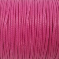 5m ou 10m Fil en Nylon Ciré 2mm Rose