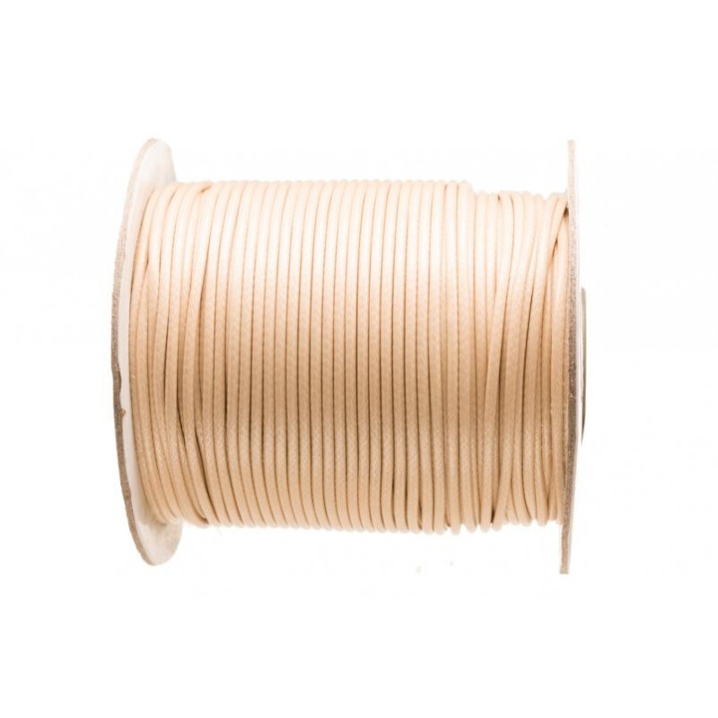 5m ou 10m Fil en Nylon Ciré 1,5mm Beige MC0215103-4