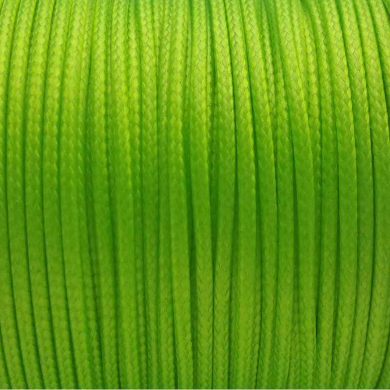 5m ou 10m Fil en Nylon Ciré 1,5mm Vert Fluo