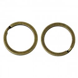 1 - 3 - 5 - 10 Anneaux Port clé Bronze 20mm Doublé