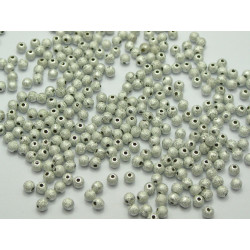 50 Perles Stardust 4mm Acrylique Argenté MC0104002