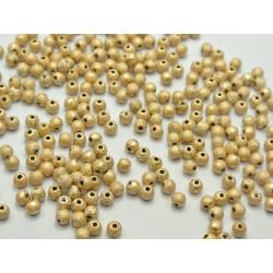 50 Perle Stardust 4mm Acrylique Doré Mat MC0104003