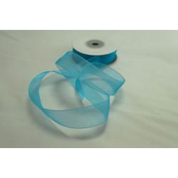 Ruban Organza Turquoise 20mm