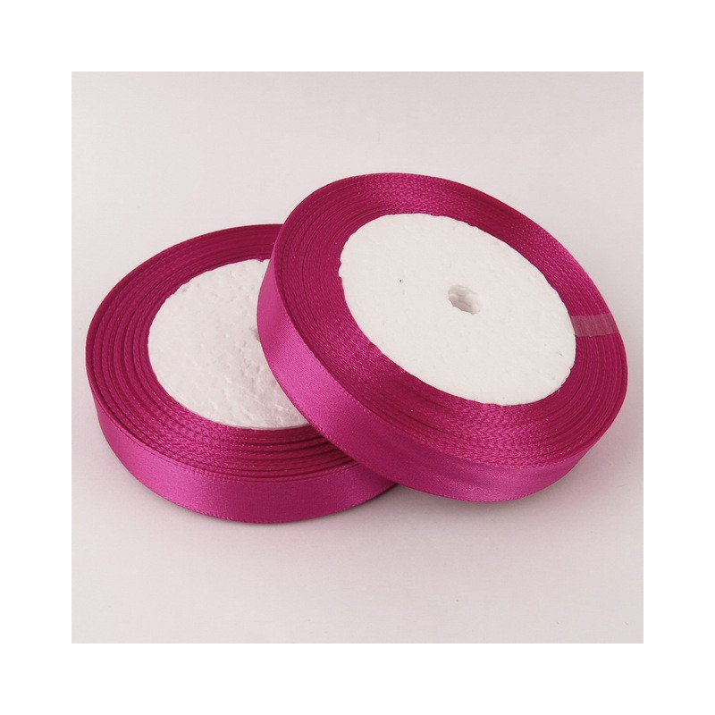 Ruban Satin Prune 25mm Rouleau 22m