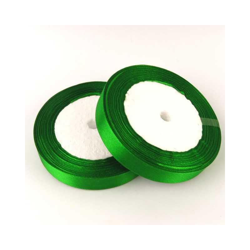 Ruban Satin Vert 25mm Rouleau 22m