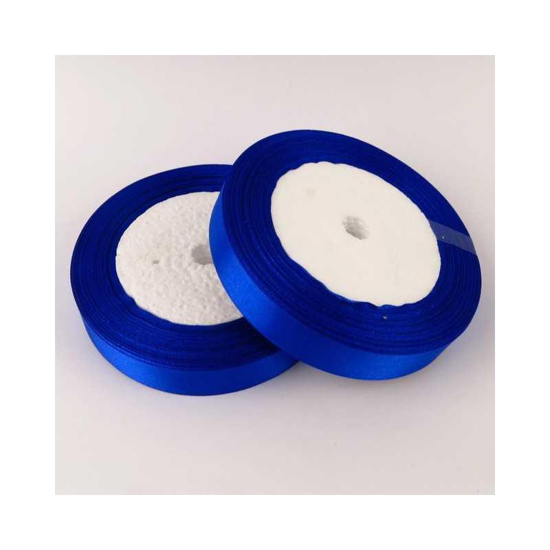 Ruban Satin Bleu 25mm Rouleau 22m
