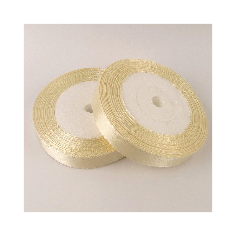 Ruban Satin Beige 25mm Rouleau 22m