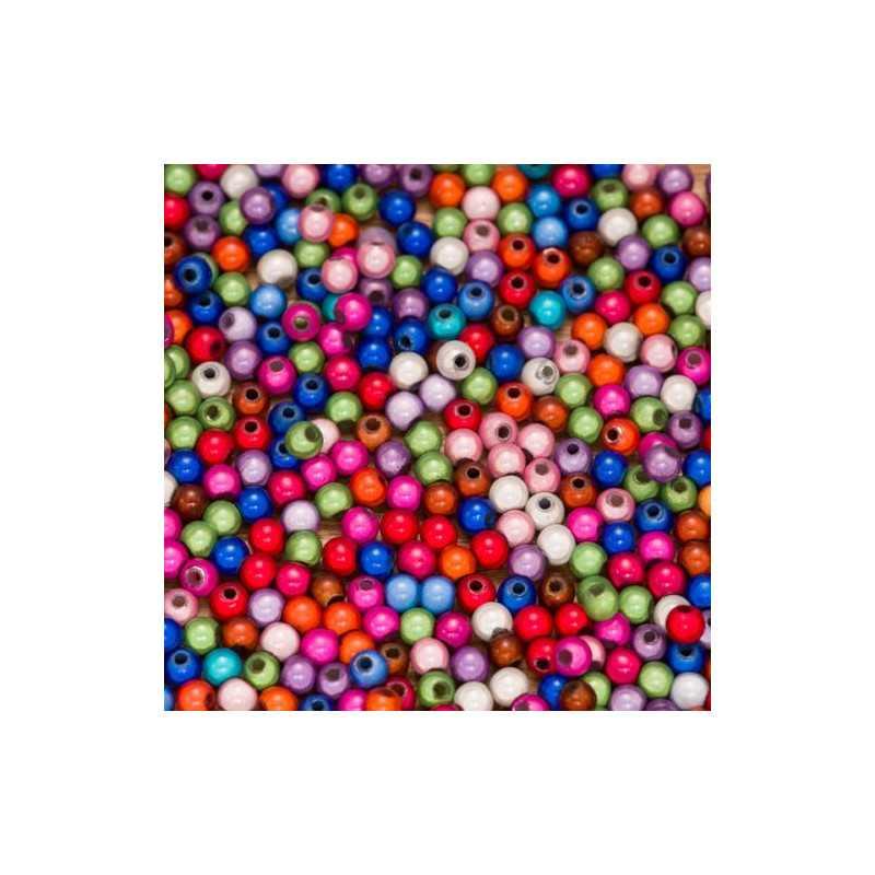 30 Perles 4mm Mixte Miracle Magique Effet Oeil de Poisson