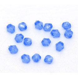 Lot 100 Bleu Perles Intercalaires Bicone toupie Acrylique 4 x 4mm MC0104023