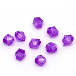 Lot 100 Violet Perles Intercalaires Bicone toupie Acrylique 4 x 4mm Mc0104027
