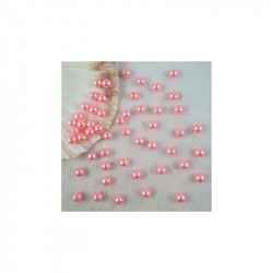 50 Perles 4mm Rose imitation Brillant MC0104031