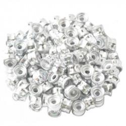 20 Perles Rondelles Aluminium 6mm x 4mm Couleur Argenté MC0106005