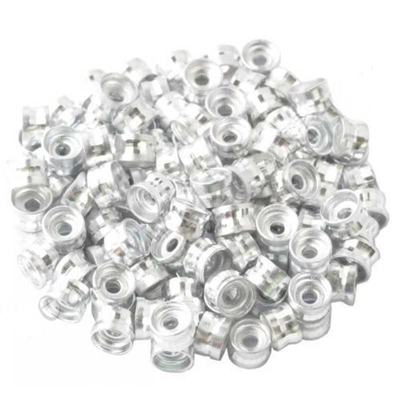 20 Perles Rondelles Aluminium 6mm x 4mm Couleur Argenté
