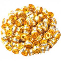 20 Perles Rondelles Aluminium 6mm x 4mm Couleur Doré MC0106007