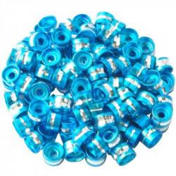 20 Perles Rondelles Aluminium 6mm x 4mm Couleur Turquoise MC0106010