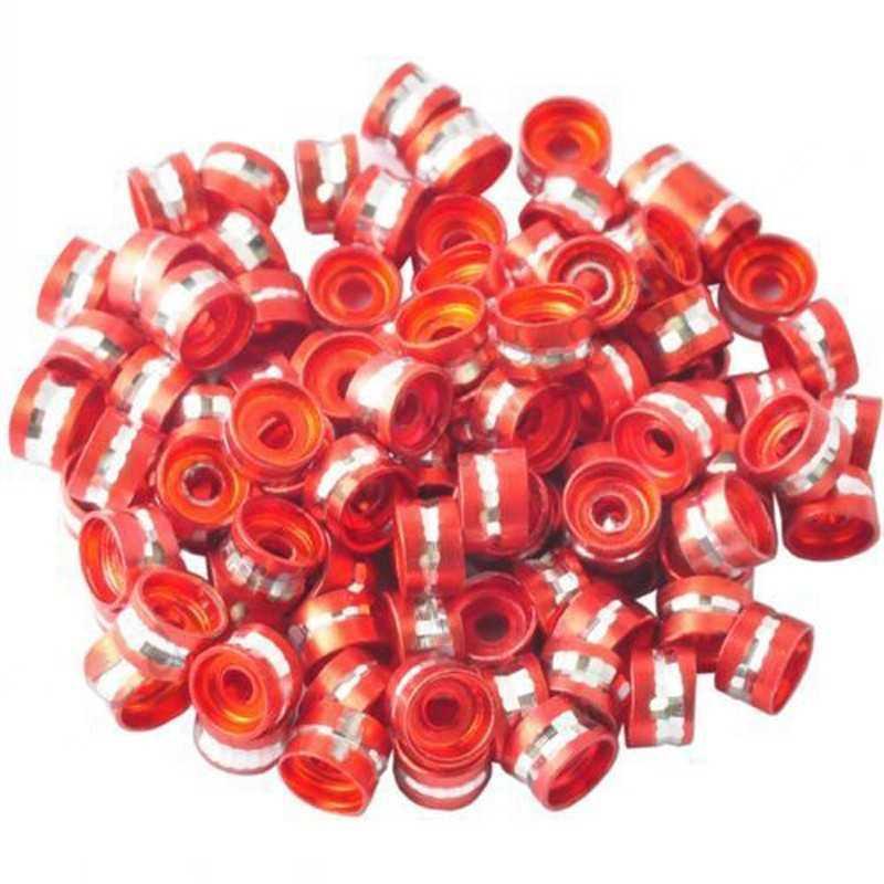 20 Perles Rondelles Aluminium 6mm x 4mm Couleur Rouge