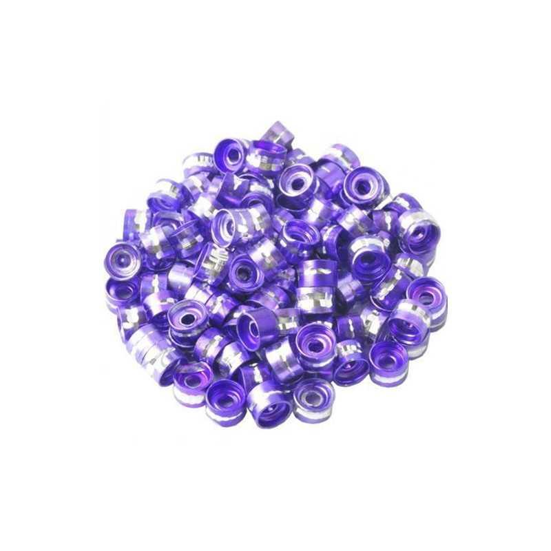 20 Perles Rondelles Aluminium 6mm x 4mm Couleur Violet