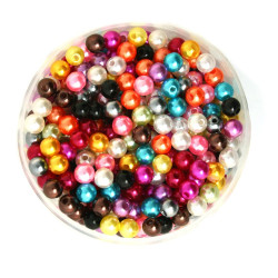 50 Perles 6mm Imitation Brillant Couleur Mixte MC0106030