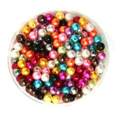 50 Perles 6mm Imitation Brillant Couleur Mixte MC0106030