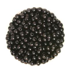 50 Perles 6mm Imitation Brillant Couleur Noir MC0106043