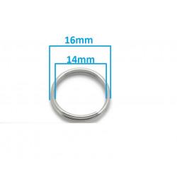 20 Anneaux de double jonction 16mm Argenté Mat MC0116001