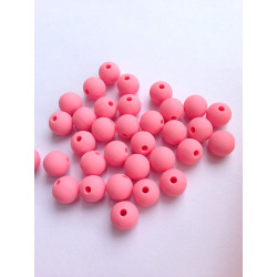 10 Perle 10mm Silicone Couleur Rose MC0110022