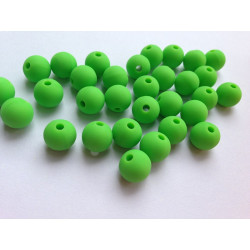 10 Perle 10mm Silicone Couleur Vert MC0110023