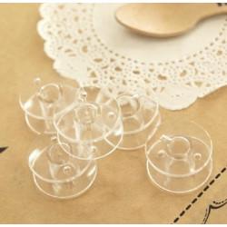 10 Bobines Canettes Transparent en Plastique Pour Fil de Machine à Coudre MC0400003