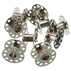 3 Bobines Canettes en Metal Pour Fil de Machine à Coudre MC0400005