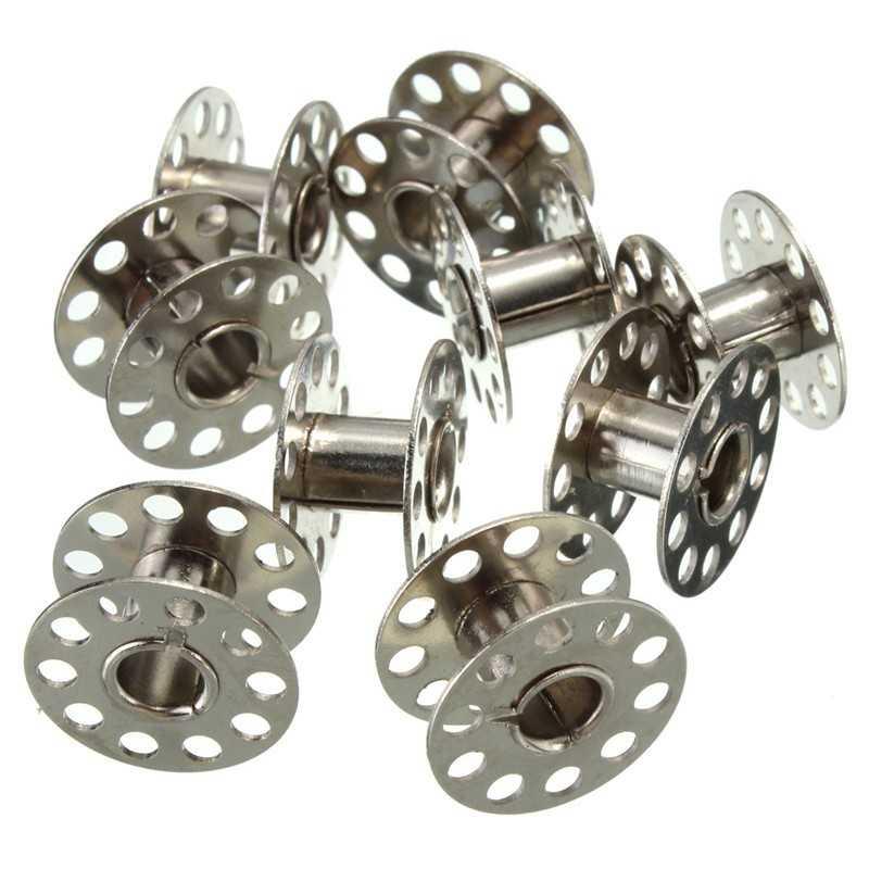 10 Bobines Canettes en Metal Pour Fil de Machine à Coudre