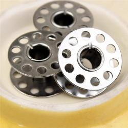 10 Bobines Canettes en Metal Pour Fil de Machine à Coudre MC0400007