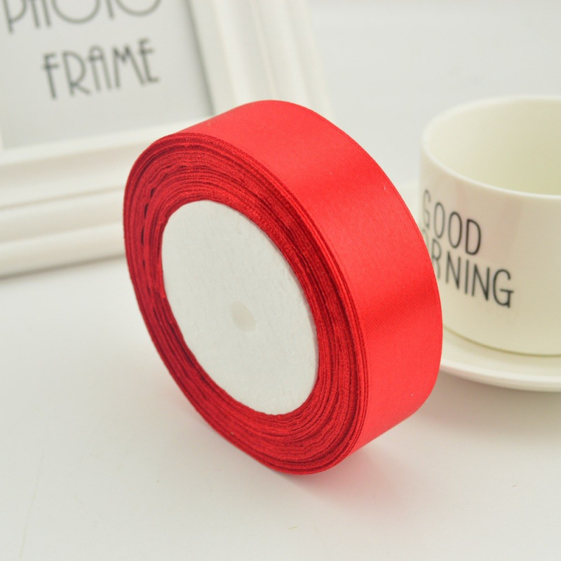 Ruban Satin Rouge 25mm ( Au Mètre)
