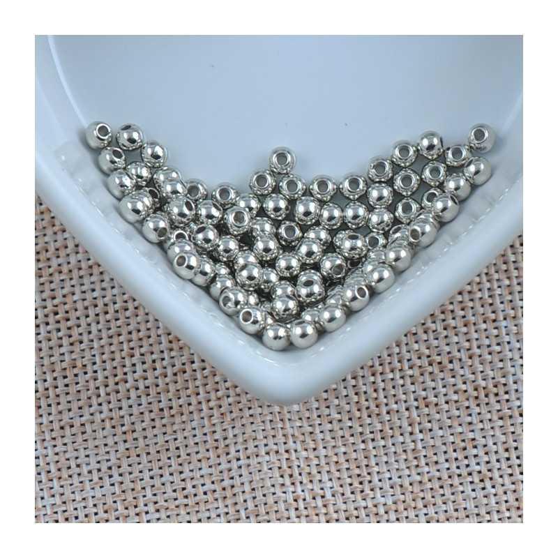 100 Perle Acrylique Brillante 4mm Couleur Au Choix