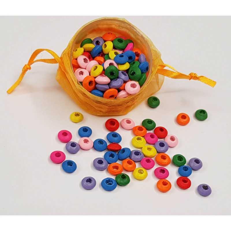 50 Perles Mixte Rondelle en Bois 8mm