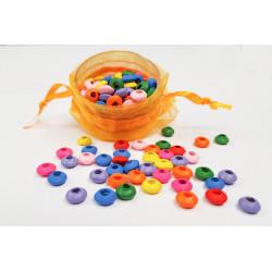 50 Perles Mixte Rondelle en Bois 8mm MC0108064
