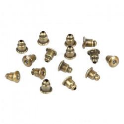 20 ou 50 Fermoirs Boucle D'Oreilles 6mm x 3mm Couleur Bronze MC08000011-12