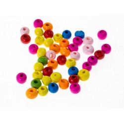 50 Perles en Bois 5mm Couleur Mixte MC0105012