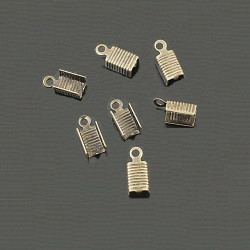 50 Embouts Cache Noeuds A Ecraser Metal Bronze Fin 12mm x 5mm MC0800073