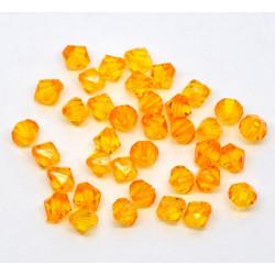 20 Perles en Acrylique Orange 8mm Bicone Toupie MC0108075