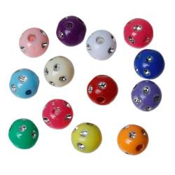 20 Perles Mix Point Argentées 8mm Couleur Mixte MC0108081