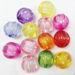 20 Perles Acrylique 8mm Citrouille Halloween Potiron Couleur Mixte MC0108084