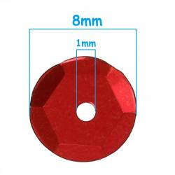 5g Sequins Rond Paillettes Rouge 8mm Environ 225 Pièces MC0108086