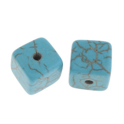 10 Perles Cube 8mm Naturel Pierre Turquoise MC0108202