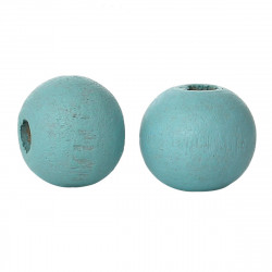 50 Perles en Bois 6mm Couleur Bleu Clair MC0106203