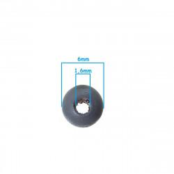 50 Perles en Bois 6mm Couleur Mixte MC0106206