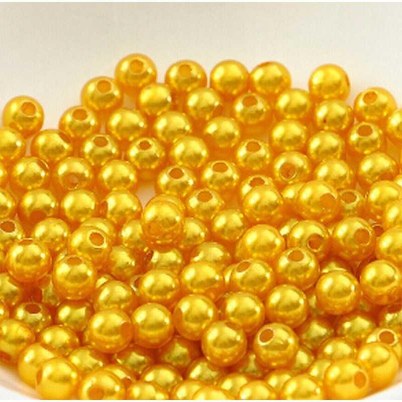 100 Perle imitation Brillant 3mm Couleur Doré