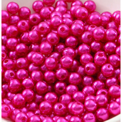 100 Perle imitation Brillant 3mm Couleur Fuchsia MC0103035