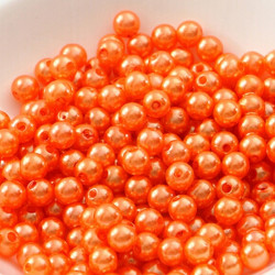 100 Perle imitation Brillant 3mm Couleur Orange MC0103039