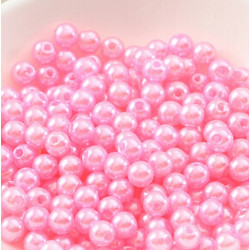 100 Perle imitation Brillant 3mm Couleur Rose MC0103040